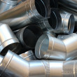 Stock Photo: Steel pipeline