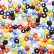 Stock Photo: Beads colored