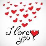 Love you — Stock Vector