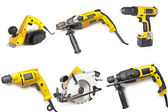Electric tool set — 图库照片