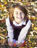 かわいい女の子私は秋の公園 — ストック写真