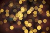 Defokussiert gelb weihnachten-abstrakt — Stockfoto