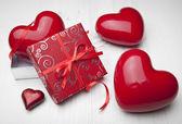 De dag van valentijnskaarten achtergrond — Stockfoto