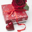 Valentines gift box and card — Stock Photo #23510125