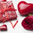 Valentines gift box and card — Stock Photo #23510237