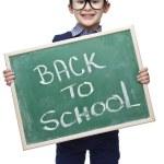 leende barn med blackboard — Stockfoto #23515255