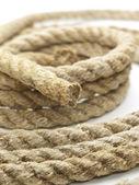Natural fiber rope in a loop — Stock Photo