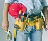 Worker with tool — Stock Photo