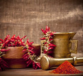 Red hot Cayenne pepper — Stock Photo