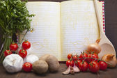 Fundo de legumes frescos — Fotografia Stock