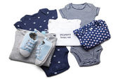 Set of baby clothes — Stock Photo