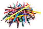 Lápices de colores, aislados sobre fondo blanco — Foto de Stock
