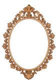 Gold vintage frame isolated on white background — Stock Photo