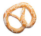 Pretzel on white background — Stock Photo