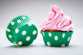 Birthday cupcake with butter — Foto de Stock