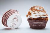 Chocolate birthday cupcakes — Stock Photo