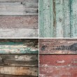 Stock Photo: Set grunge wood texture