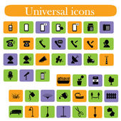 A set of universal icons — Stock Vector