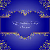 Valentine on a blue background — Stock Vector