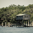 Stock Photo: Wood Boathouse