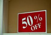 Femtio procent av tecken — Stockfoto