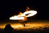 Fire Show. Koh Samet island. — Stock Photo