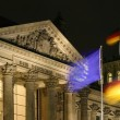 Reichstag bei nacht Reichstag at night — Stock Photo