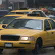 NYC Taxi im Regen — Stock Photo