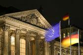 Reichstag bei nacht reichstag dans la nuit — Photo