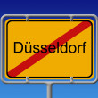 City Sign City Limit Dusseldorf — Stock Photo