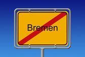 City Sign Bremen — Stock Photo