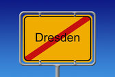 Ortsschild Ortsausgang Dresden - City Sign City Limit Dresden — Stock Photo