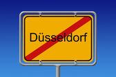 Znak města omezit dusseldorf — Stock fotografie