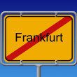 Ortsschild Ortsausgang Frankfurt - City Sign City Limit Frankfur — Stock Photo