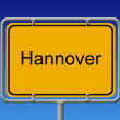 Ortsschild Hannover - City Sign Hannover — Stock Photo