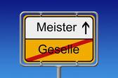 Geselle - Meister — Stock Photo