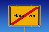 Ortsschild Ortsausgang Hannover - City Sign City Limit Hannover — Stock Photo