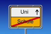 Schule - Uni — Stock Photo