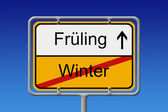 Fruhling - Winter — Stock Photo