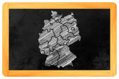 Germany with federal states on a blackboard — Stock Photo