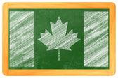 Canadian flag on blackboard — Stock Photo