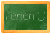 Ferien chalk on blackboard — Stock fotografie