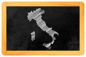 италия drtawn на черную доску — Стоковое фото