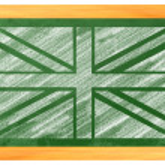 UK Flag on a blackboard — Stock Photo #26723935