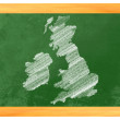 Stock Photo: Great Britain drawn on a blackboard