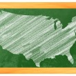 USA on a blackboard — Stock Photo