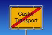 Kein castor-transport-stadt-zeichen — Stockfoto