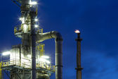 Chemical plant at night — Stock Photo