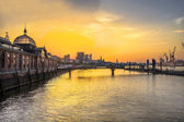 Hamburg Fishmarket at Sunrise — Stock Photo