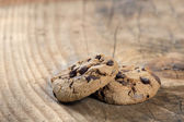 Two Chocolate Chips Cookies — Stock Photo